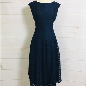 DANNY AND NICOLE NAVY FLORAL  DRESS *NWOT*